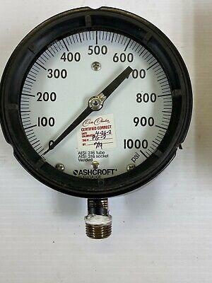 Carter Chambers 4-12 Dial Pressure Gauge 1000 See Description