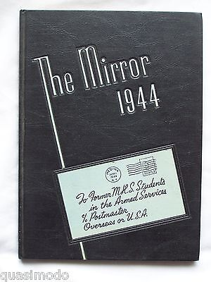 1944 MEDINA HIGH SCHOOL, YEARBOOK, MEDINA, NEW YORK  THE MIRROR   UNMARKED!!