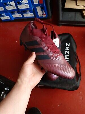 ADIDAS NEMEZIZ 18.1 FG FOOTBALL BOOTS - MAROON / LEGEND INK - SIZE UK 11.5 eur46