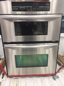 Gas range stove  and wall mount convectional Microwave and oven