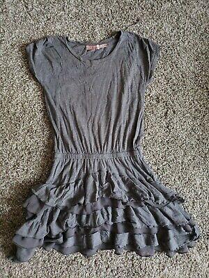 Girls Sz 7 Juicy Couture Ruffled Shirt Dress