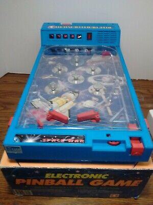 able Top  PINBALL MACHINE SPACE WAR  Original Box TESTED (Electronic Pinball Machine)