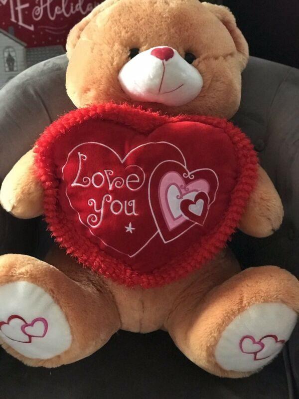 I Love You Gold Teddy Bear