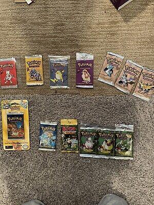 Pokemon TCG WOTC Jungle/ Fossil/ Baseset 2 Lot Charizard Blister, HEAVY Mint