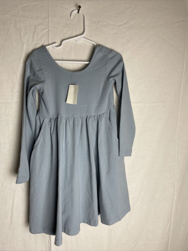 Hanna Andersson Cotton Skater Dress Size 100 4T Blue New With Tags