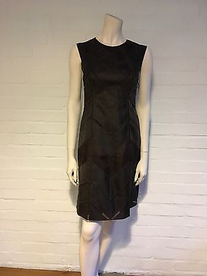 Amazing J. Mendel Silk Fitted Brown Dress Size US 6 UK 10