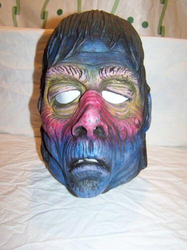 Vintage Don Post Frankenstein Halloween Mask RAINBOW CARLISLE