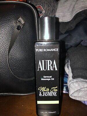 Pure Romance Aura White Tea And Jasmine Sensual Message Oil 5 fl oz NEW