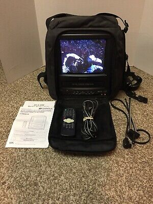 "SANSUI 9"" TV VCR VHS Combo AC/DC COM0961B 12V Portable Combination Auto Boat RV"
