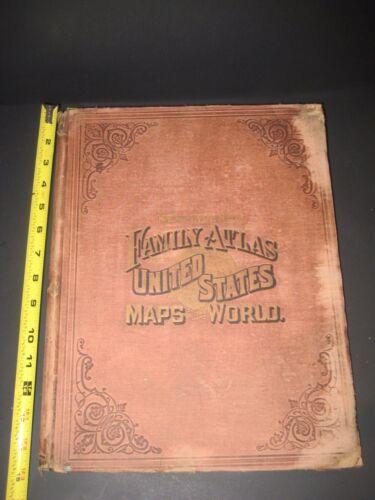 HUGE RARE WORLD UNITED STATES ATLAS MAPS_ simi to COLTON