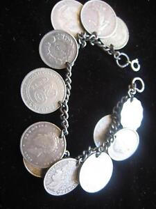 12 silver Coin Bracelet Koongamia Swan Area Preview