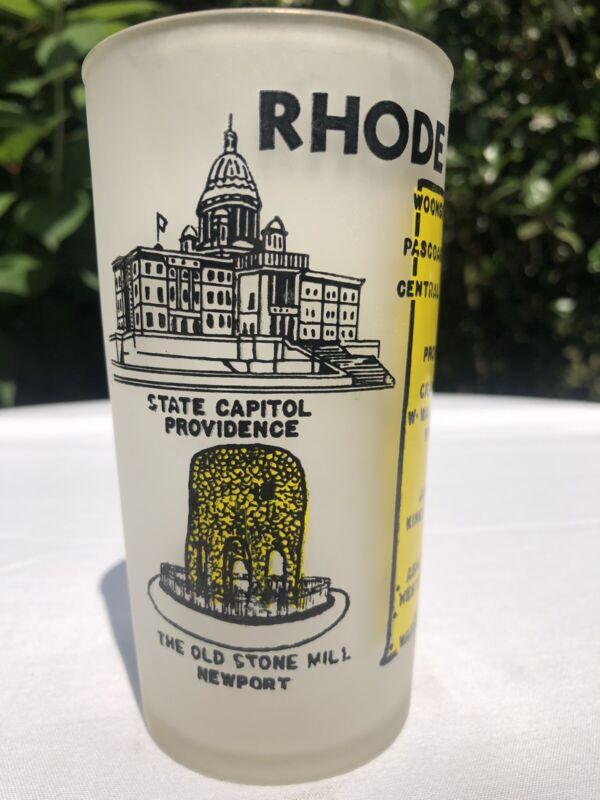 Rhode Island Vintage Hazel Atlas Souvenir Glass Midcentury