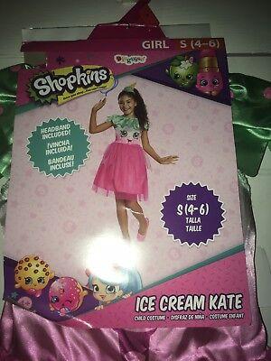 Shopkins Ice Cream Kate 2-Piece Costume Cosplay Size Small - Costume Ice Cream