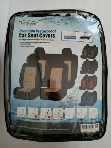 FH Group FB085114Beige /Black Universal Car BENCH SEAT COVER ONLY Waterproof