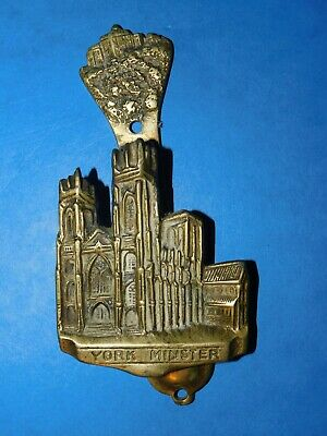 VINTAGE BRASS YORK MINSTER DOOR KNOCKER