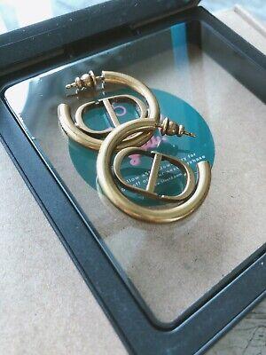 Unbranded CD' jadior earrings hoop vintage finished gold