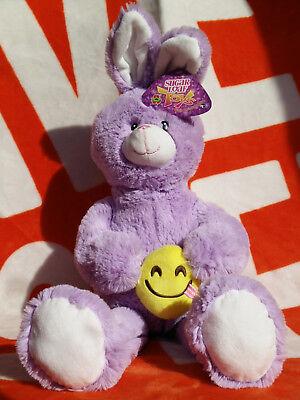 Easter Bunny Emoji (New EASTER Spring BUNNY RABBIT EMOJI Plush Purple 27