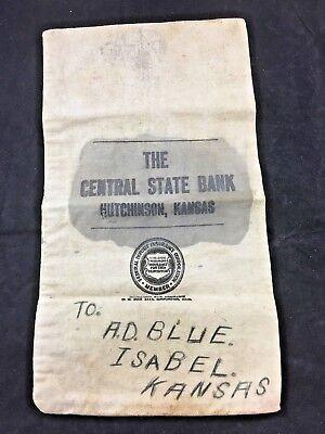 The Central State Bank Bag Hutchinson Kansas (A9)