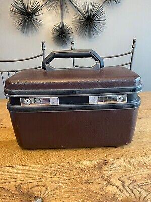 Vintage Samsonite Sentry Train Case - Luggage, Carryon, Wine/Maroon- Ships Free