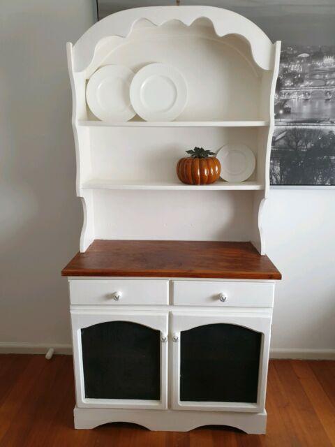 White buffet & hutch/kitchen buffet/timber cabinet ...