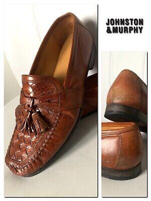 JOHNSTON & MURPHY Men's Leather Upper & Soles Moccasins Shoes Size 8.5