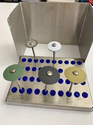 Genuine Brasseler Komet Acrylic Polishing Dental Burs Kit
