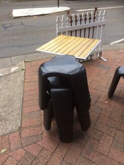Outside tables and chairs