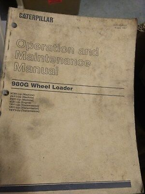 Cat Caterpillar 980g Wheel Loader Operation Maintenance Book Manual