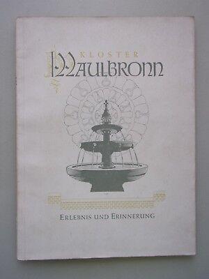 Kloster Maulbronn Erlebnis und Erinnerung 1951