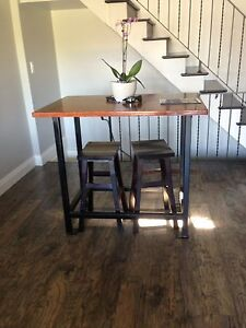 MATCHING BAR TABLE AND COFFEE TABLE