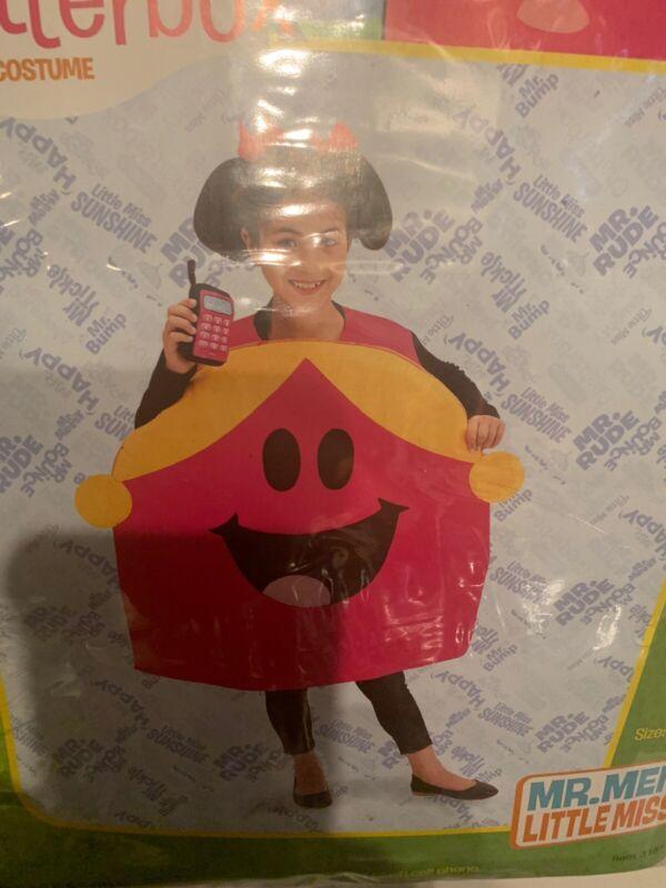 NWOT Little Miss Chatterbox Mr. Men Little Miss Child Size 7/8 Bodysuit
