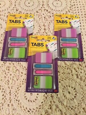 Lot Of 3 Post -it Tabs And Flags64 Count Each