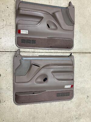 92-96 FORD F150 DOOR PANELS TAN MOCHA SILVER XLT TRIM 92-96 F150 DOOR PANELS