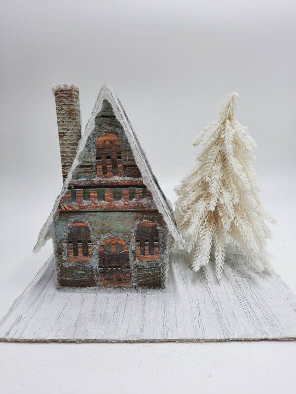 Nordic Style Cabin Paper Putz House