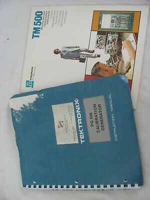 Tektronix Pg 506 Instruction Manual W 11x17 Foldouts Tm500 Booklet Nice