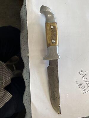 "Vintage Ruana Bonner ""M"" Stamp Stag Handles Knife Montana"