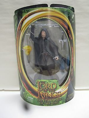 Lord Of The Rings Lotr Fellowship Toybiz Strider Aragorn Figure Sealed New