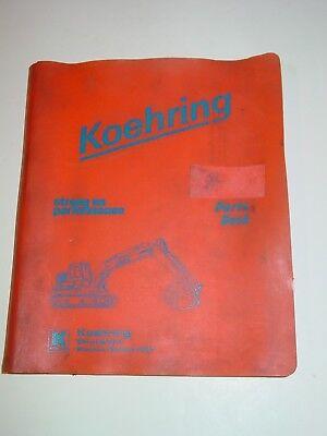 Koehring Model 1066 Parts Book Catalog