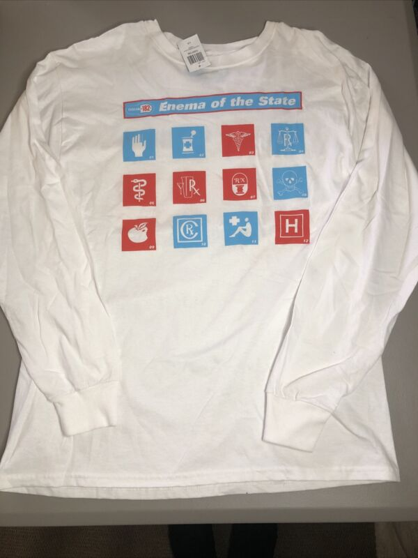 Blink 182 Enema Of The State 20th Anniversary Long Sleeve Shirt. Size Large
