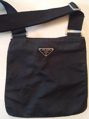 Vintage Prada Black Nylon Small Purse Shoulder Hand Bag Adjustable Strap