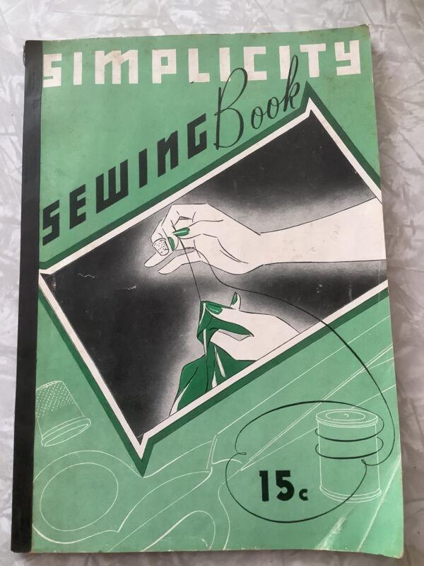 Vintage Simplicity Sewing Book  1937 Choosing Colors Insert