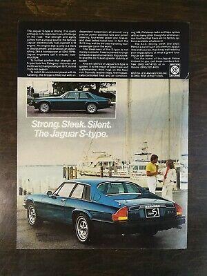 Vintage 1978 Jaguar XJ-S S-Type Full Page Original Color Ad