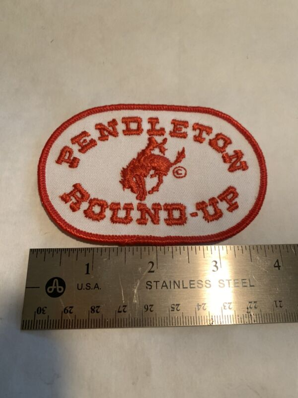 rare vintage Pendleton Round-Up Embroidered Patch