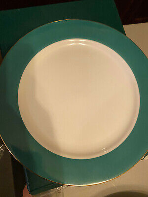 Zrike 200393H1B1 Emerald Green Porcelain Charger (s)  EIGHT (8) For Sell