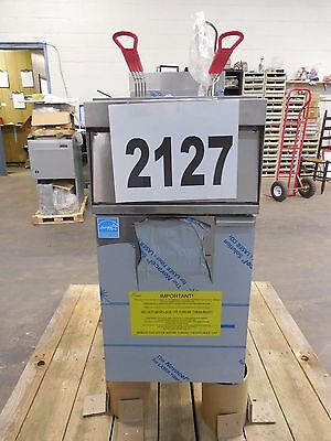 2127 New - Sd Vulcan Free Standing Electric Fryer Model 1er50a-3