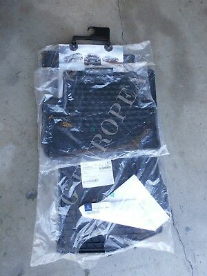 Mercedes-Benz W205 C-Class Sedan Genuine All Season Rubber Floor Mat Set BLACK