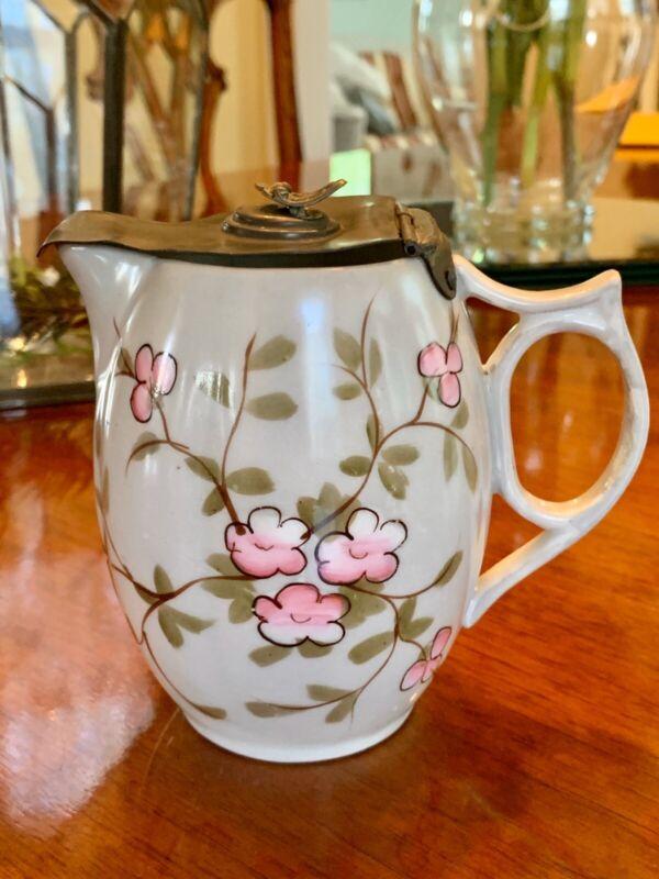 Rare Antique Syrup Pitcher Porcelain France