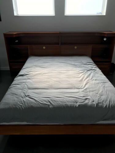 Teak bedroom furniture set vintage mid century modern Queen LOCAL PICKUP ONLY
