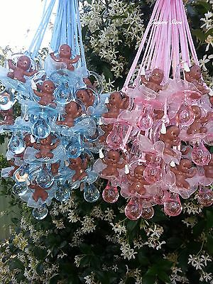 African American Baby Shower - Pacifier Necklaces African American Baby Shower Game Favors Prizes U-Pick Colors