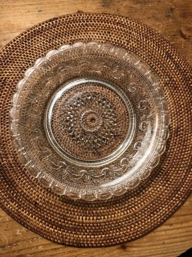 Dekorativer Pressglas Glas Teller Durchmesser 21 cm